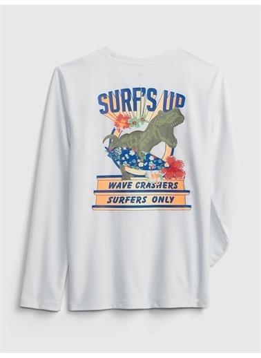Gap Geridönüştürülmüş Koruyucu T-Shirt Mavi
